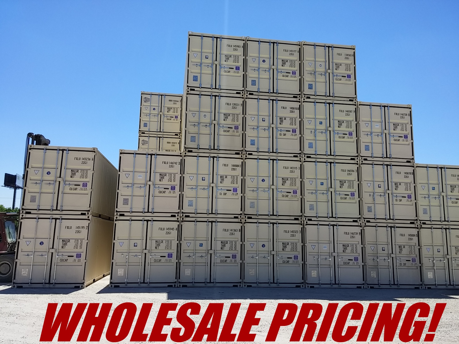 Wholesale pricing stack